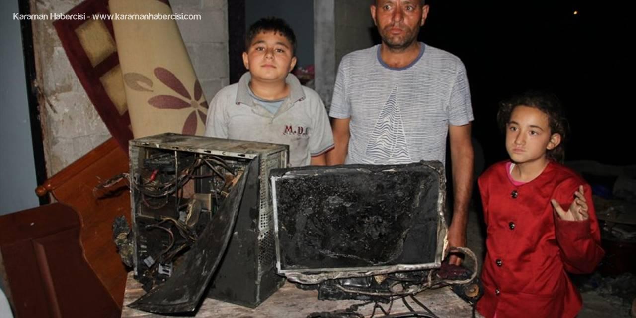 Mersin'de Yangında Evleri Kullanılamaz Hale Gelen Aile Destek Bekliyor