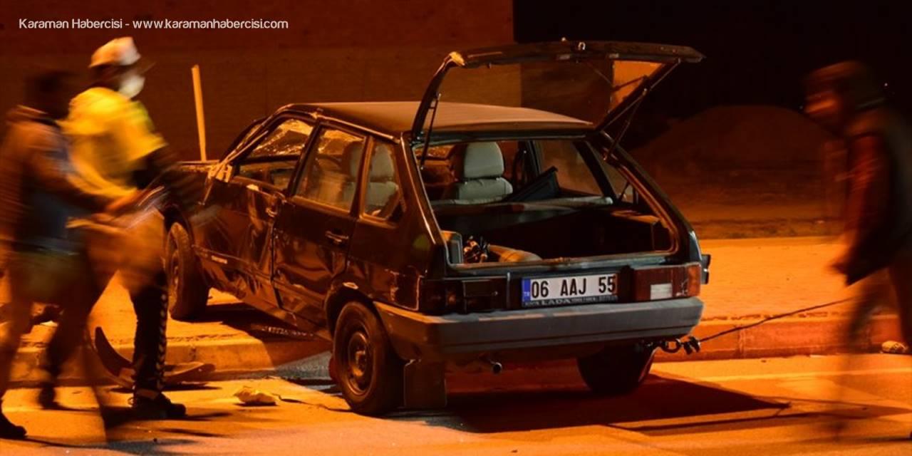 Konya'da Otomobil İle Tır Çarpıştı: 2 Yaralı