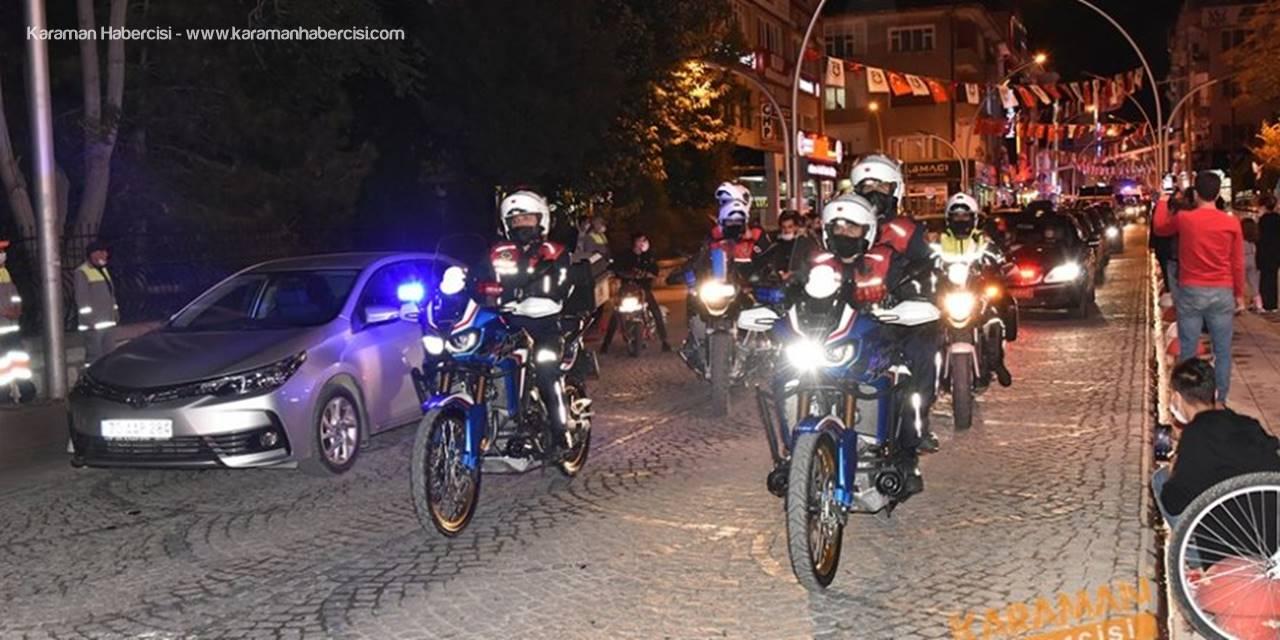 Karaman'da Cumhuriyet Bayramı Araç Korteji Düzenlendi