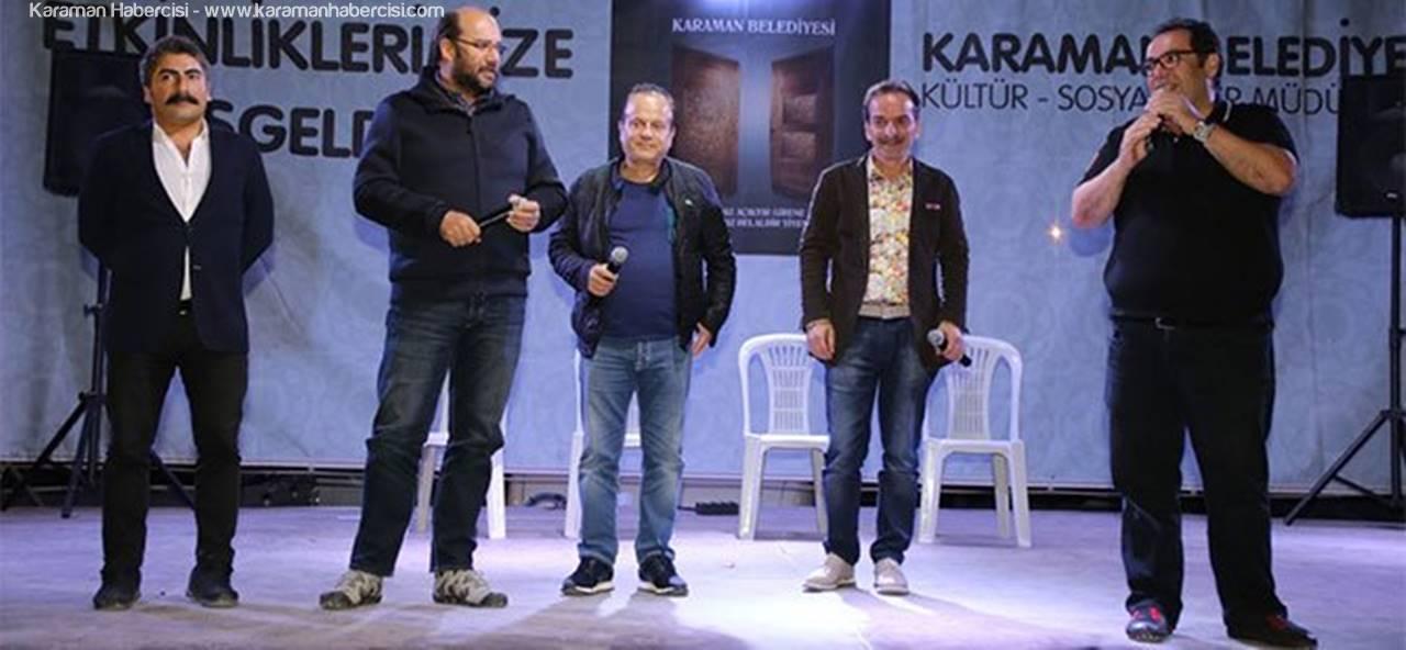 Seksenler Dizisi Oyuncuları Karaman'da Sahne Aldı