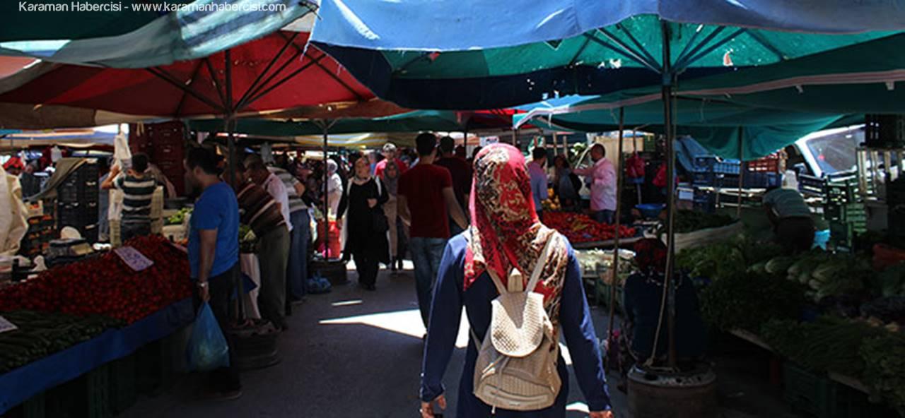 Karaman'da Çarşı Pazar Hareketlendi