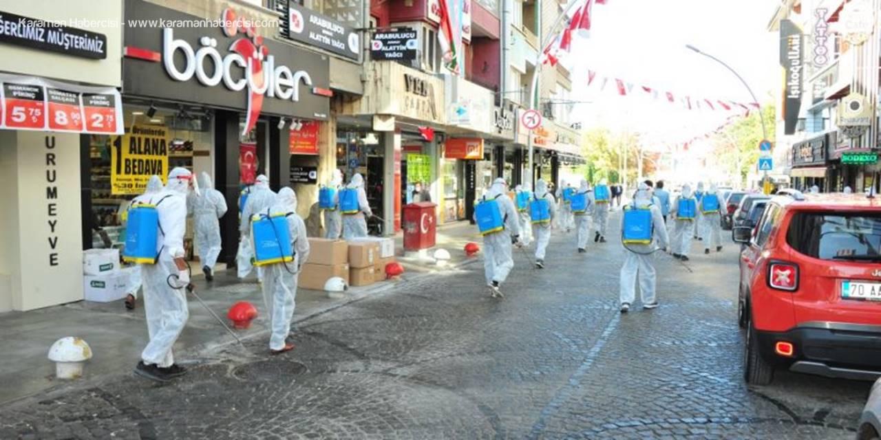 Karaman Belediyesi Koronavirüs İle Mücadeleye Devam Ediyor