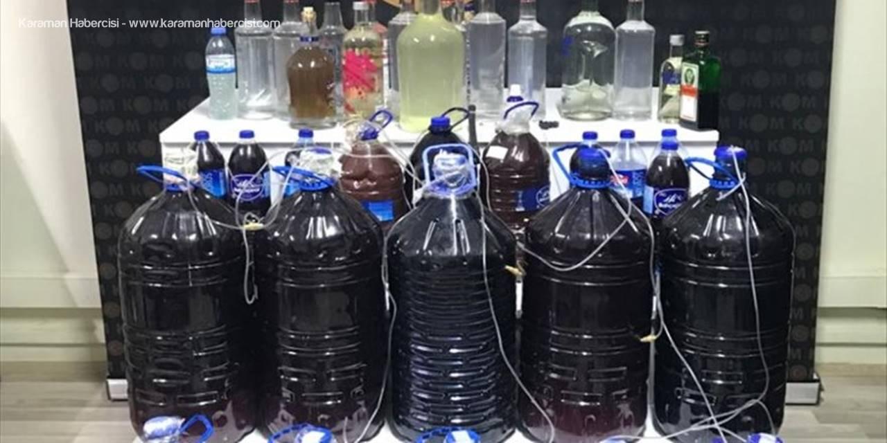 Mersin'de Sahte İçkiler Su Gibi Dolanıyor