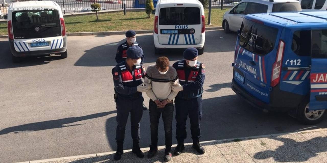 Konya'dan Çaldığı Otomobille Karaman'da Hırsızlık Olayına Karıştı