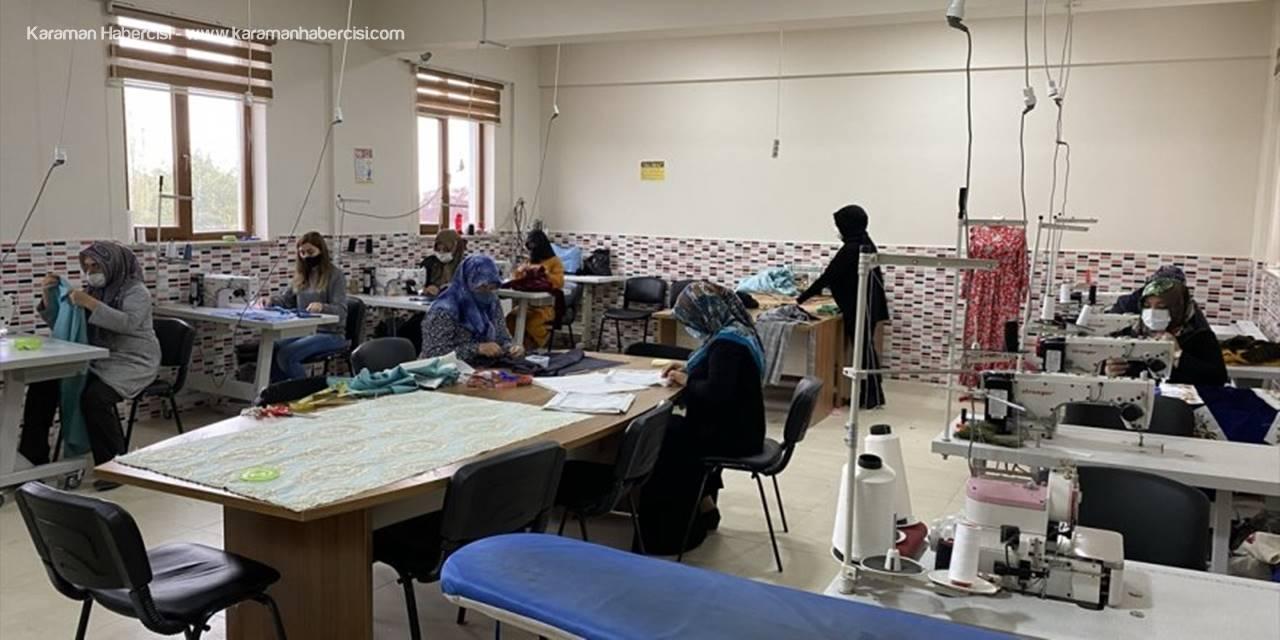 Sultanhanı'nda Kadınlar Meslek Sahibi Olmak İçin Kursa Katılıyor