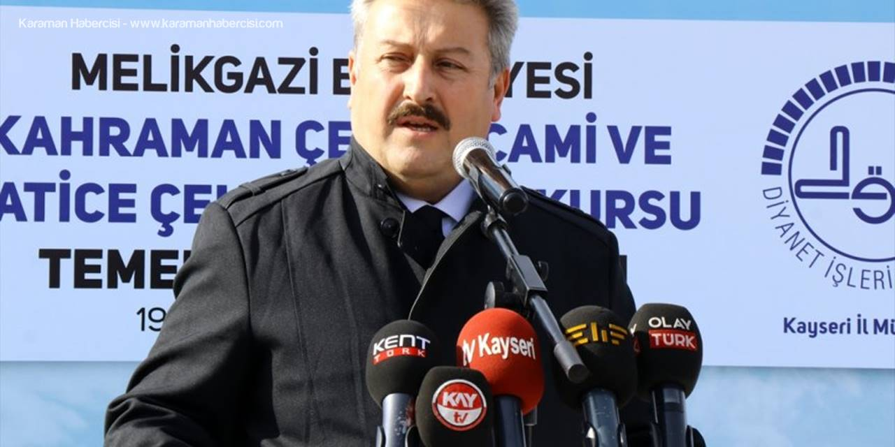 Kayseri'de Kahraman Çelebi Camii Ve Hatice Çelebi Kur'an Kursu'nun Temeli Atıldı