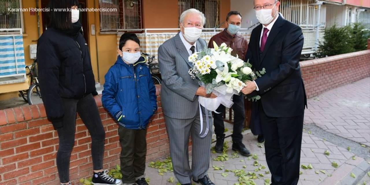 AÜ Rektörü Prof. Dr. Fuat Erdal, İlkokul Öğretmenini Ziyaret Etti