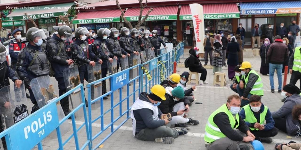 Karaman'da Madencilerin Hak Arayışı Devam Ediyor