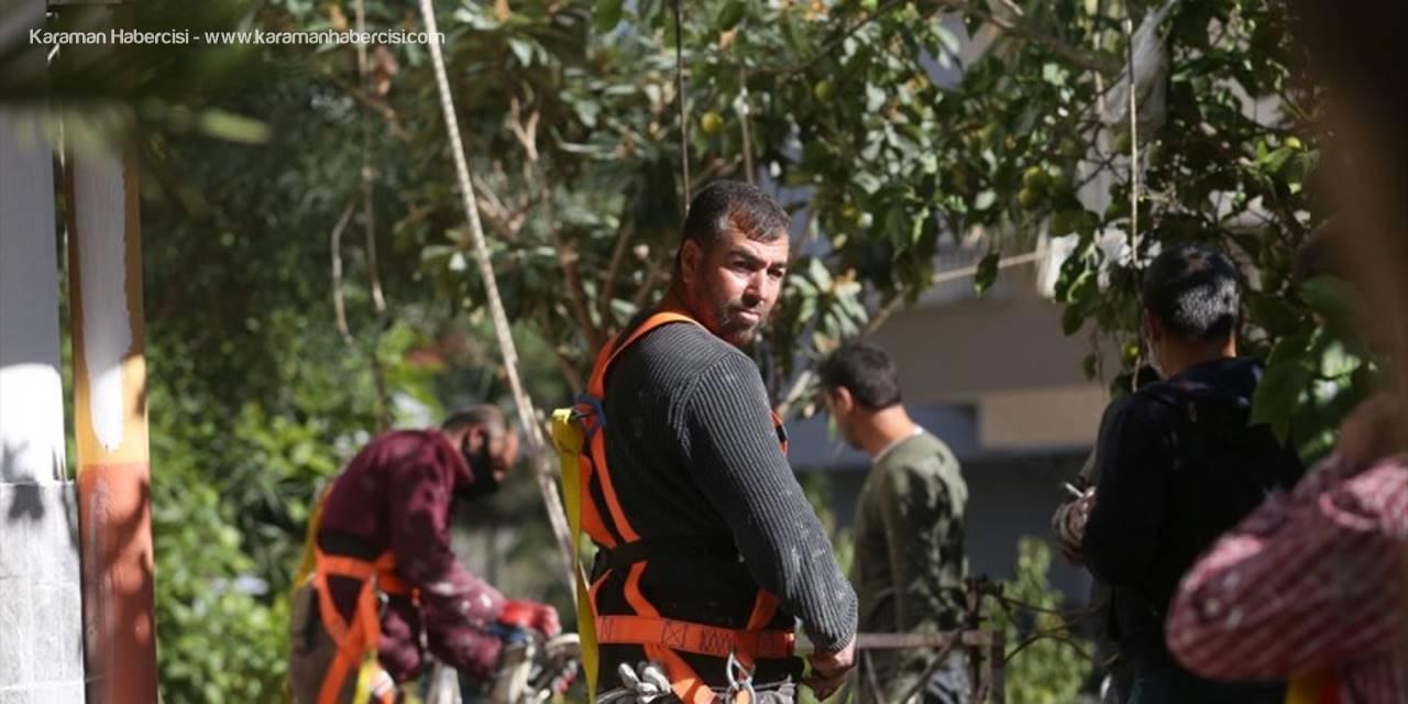 Antalya'da İnşaat İşçisi Ölümden Döndü