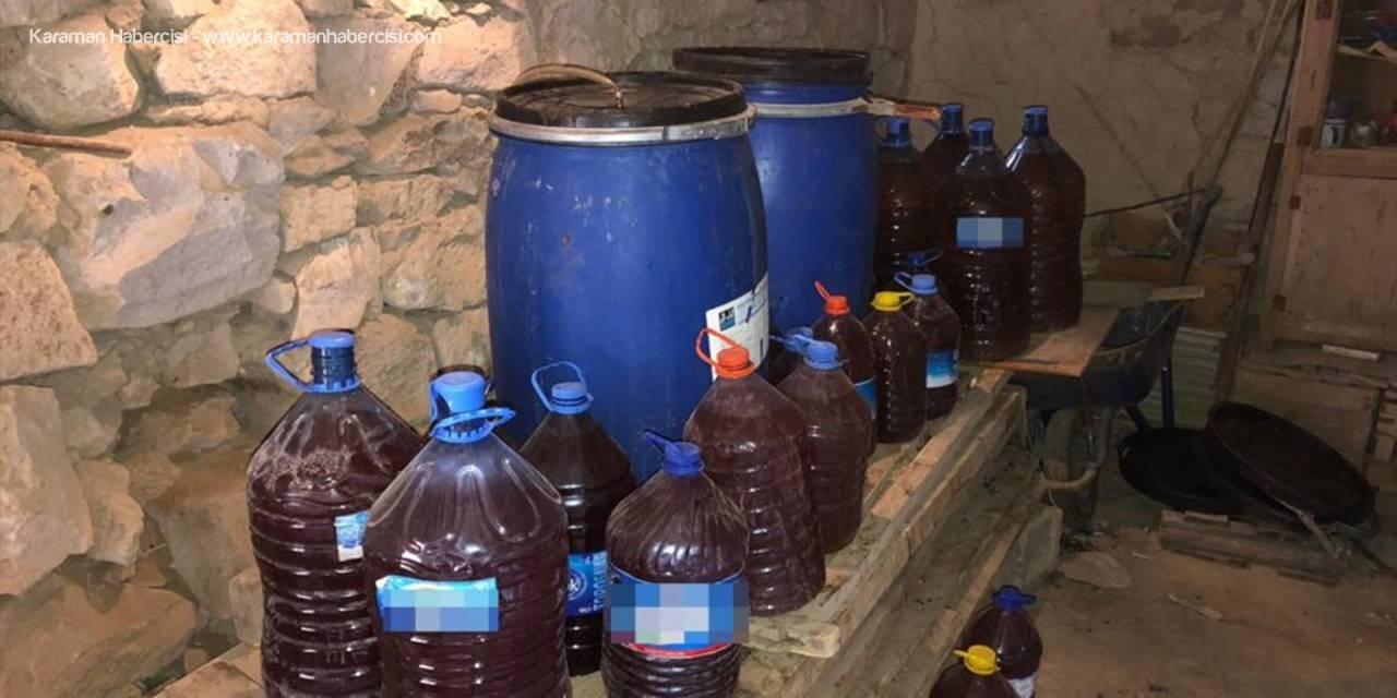 Niğde'de Bin 450 Litre Kaçak Şarap Ele Geçirildi