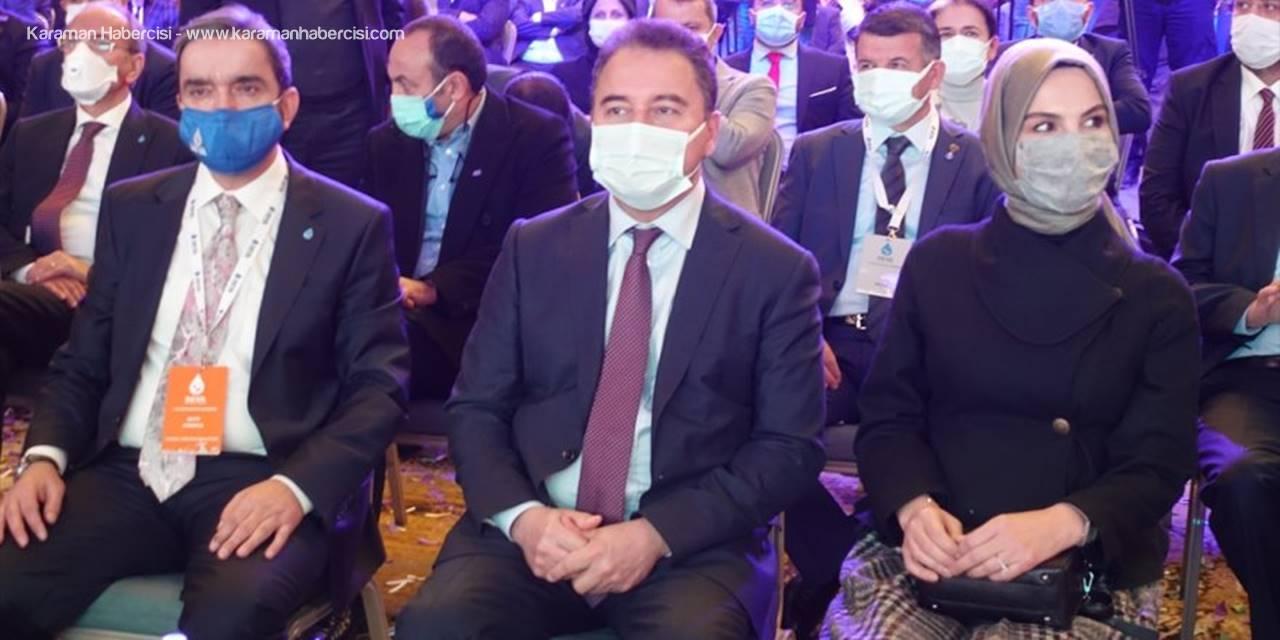 Deva Partisi Genel Başkanı Babacan Partisinin Konya Kongresine Katıldı