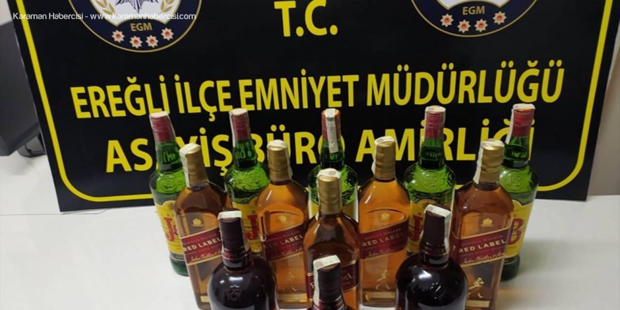 Ereğli'de Kaçak İçki Operasyonu