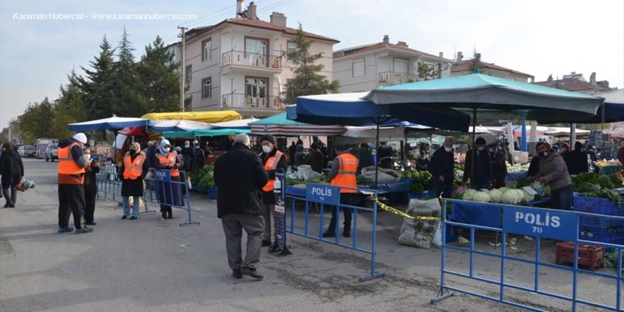 """Konya, Aksaray ve Karaman'da  """"Kovid-19 Denetimleri"""" Sürüyor"""