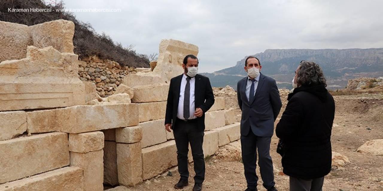 Rektör Akgül Ermenek'te Arkeolojik Kazıları Yerinde İnceledi