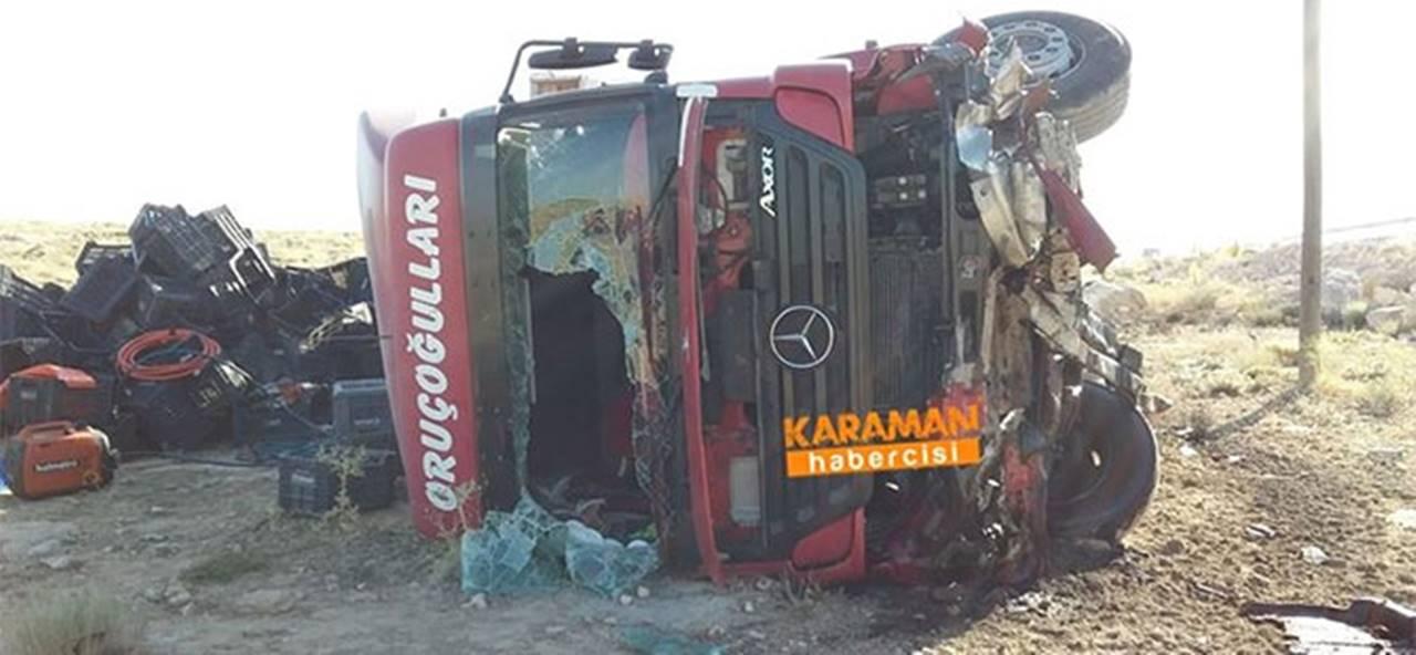 Kaza Yapan Tırlar Kaldırılıyor