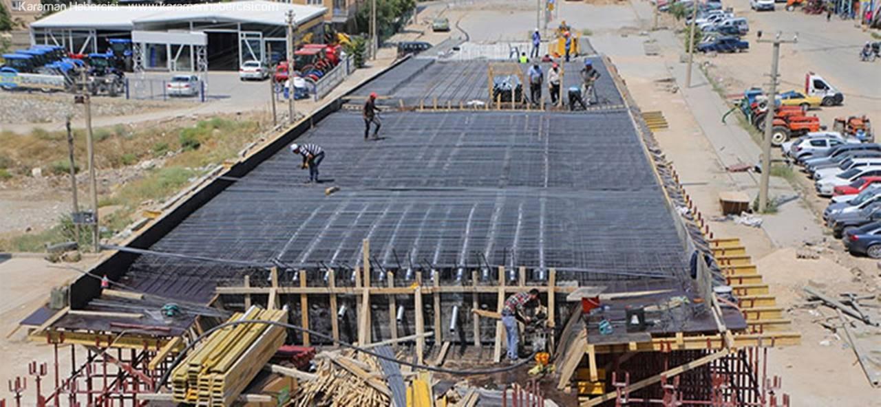 Sanayi, Köprülü Kavşağı'nda Çalışmalar Devam Ediyor