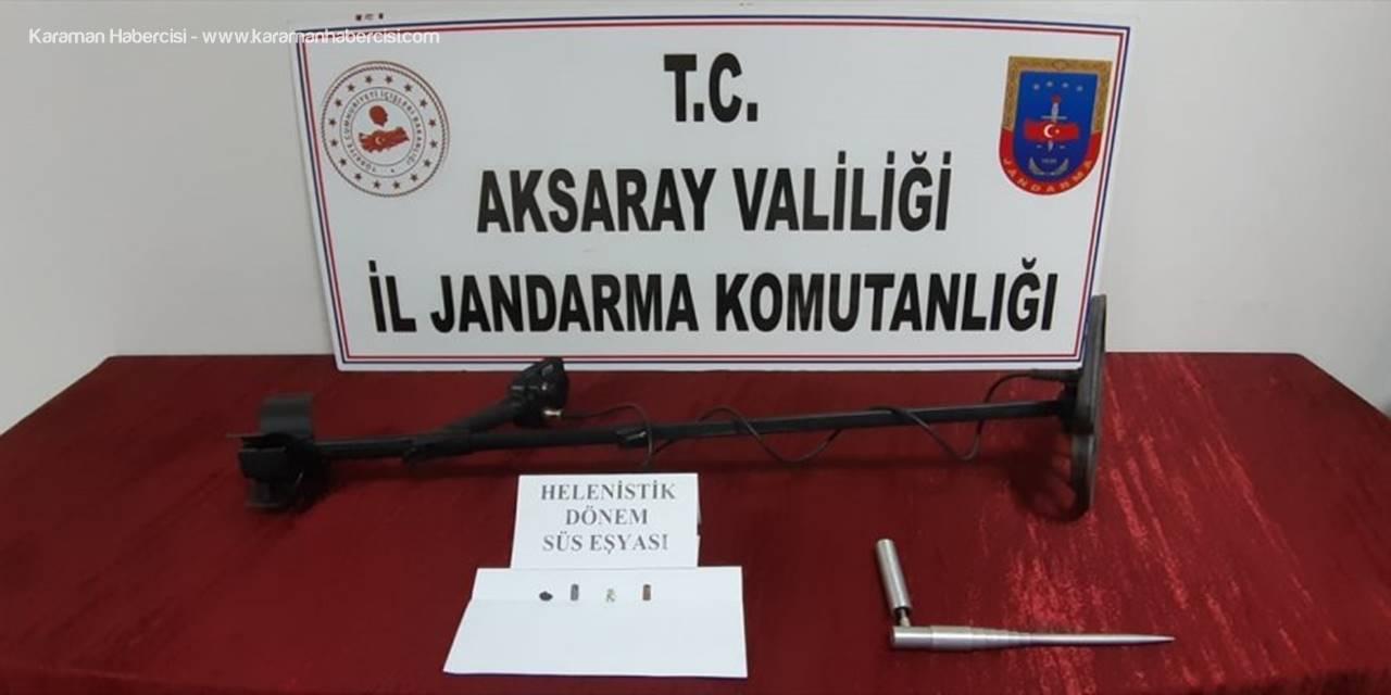 Aksaray'da Define Arayan 4 Kişi Suçüstü Yakalandı