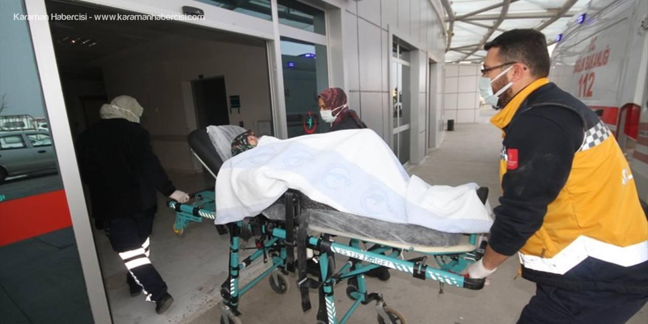 Konya'da Parlayan Sobadan Odaya Dolan Dumandan Etkilenen Nine Hastaneye Kaldırıldı