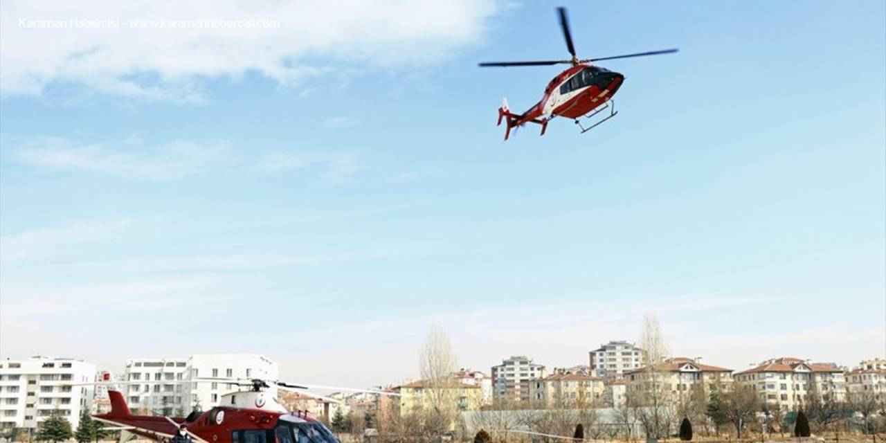 Solunum Sıkıntısı Yaşayan Hasta Hava Ambulansıyla Ankara'ya Sevk Edildi