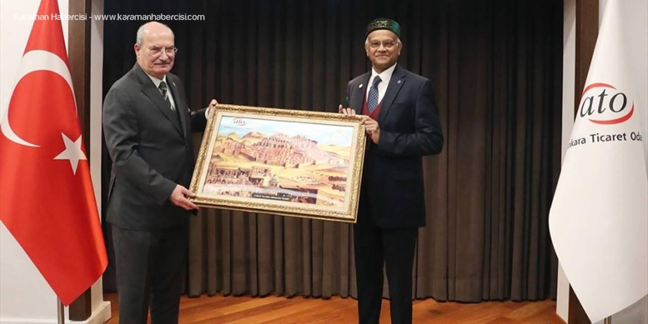 Bangladeş'in Ankara Büyükelçisi Mannan, Ato Başkanı Baran'ı Ziyaret Etti