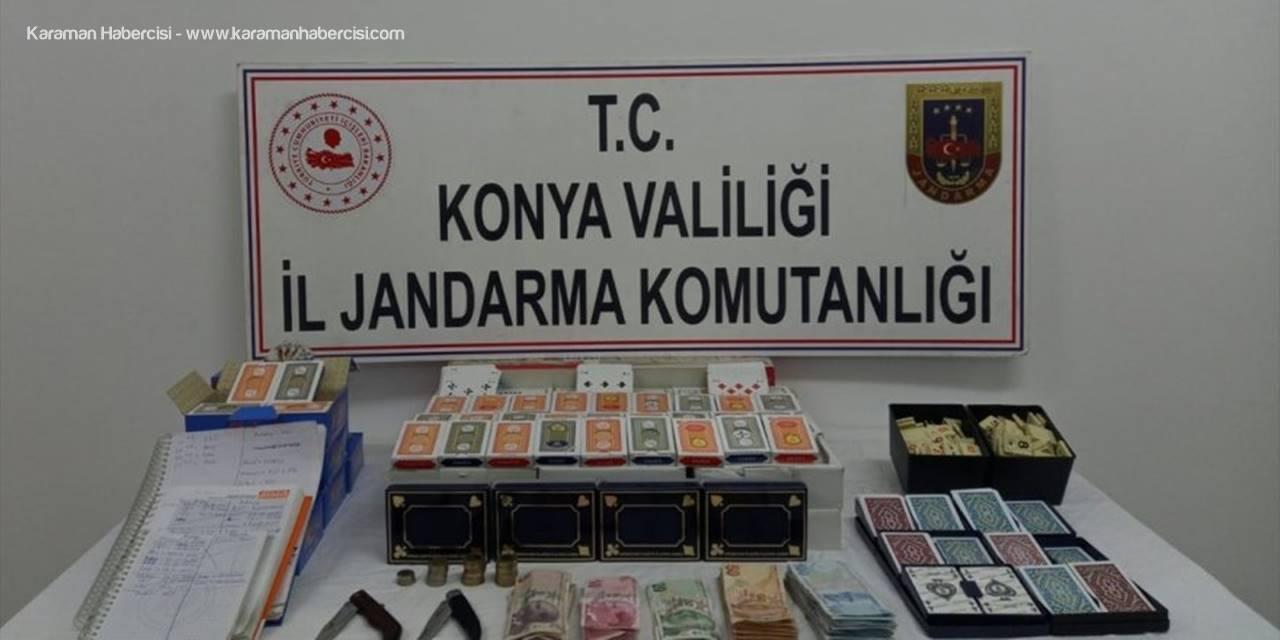Konya'da Kumar Oynayan Ve Kovid-19 Tedbirlerini İhlal Eden Kişilere Ceza Yağdı