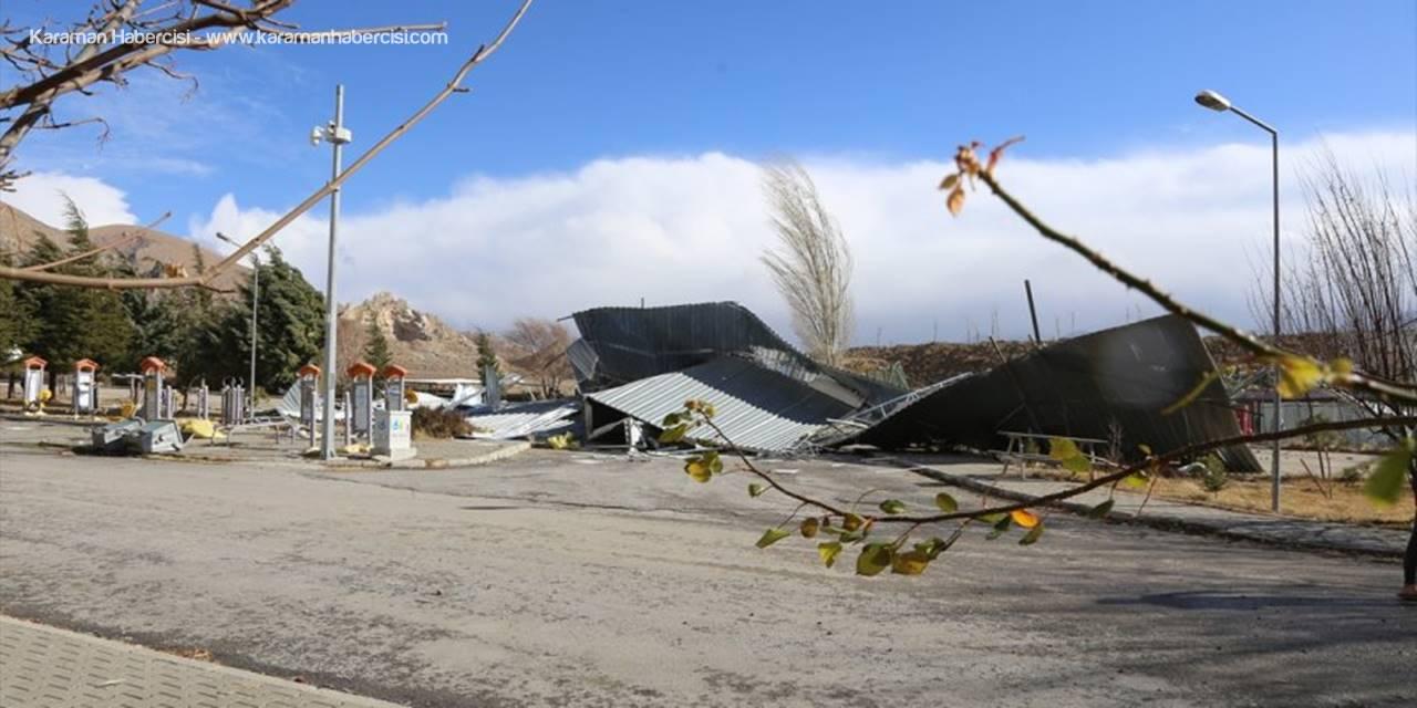 Halkapınar'da Şiddetli Rüzgar Hasara Yol Açtı