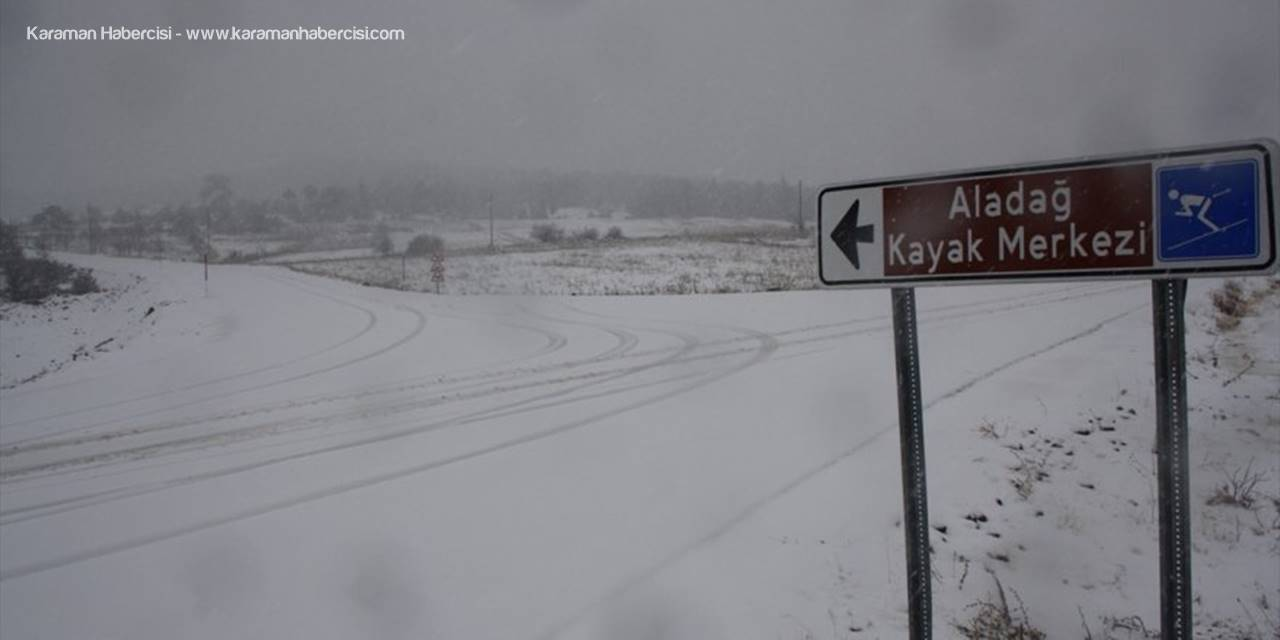 Derbent'te Kar Yağışı