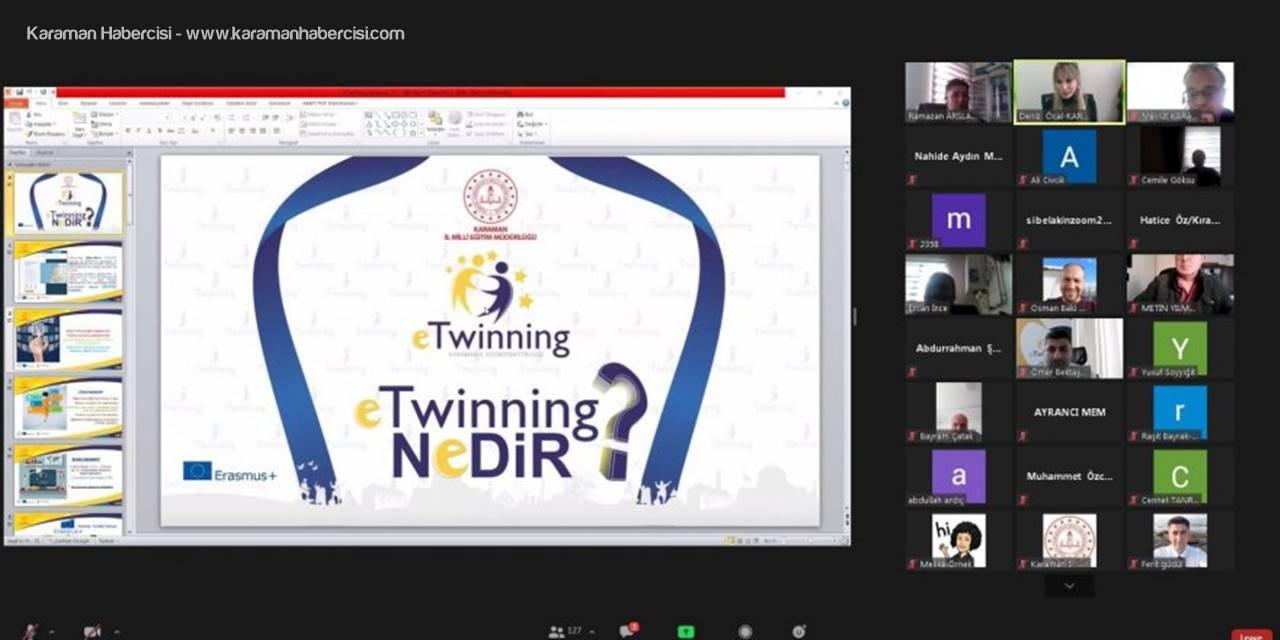 """""""e twinning Nedir?"""" Konulu Webinar Eğitimi Gerçekleştirdi"""