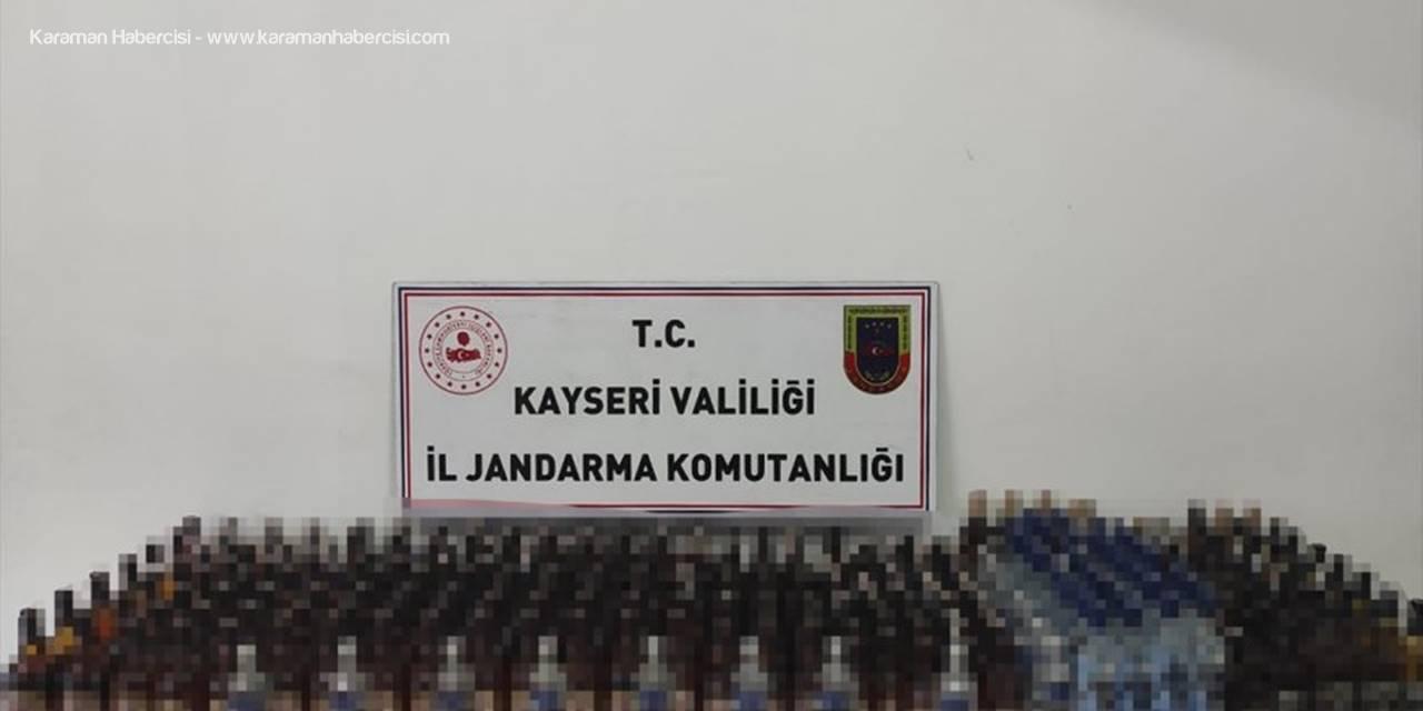 Kayseri'de 360 Litre Kaçak İçki Ele Geçirildi