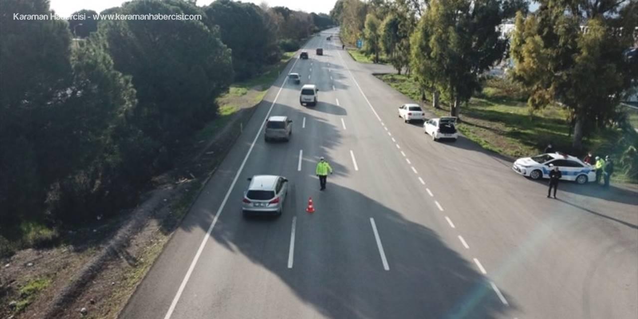 Antalya'daki Trafik Denetimlerinde 194 Sürücüye Para Cezası Verildi