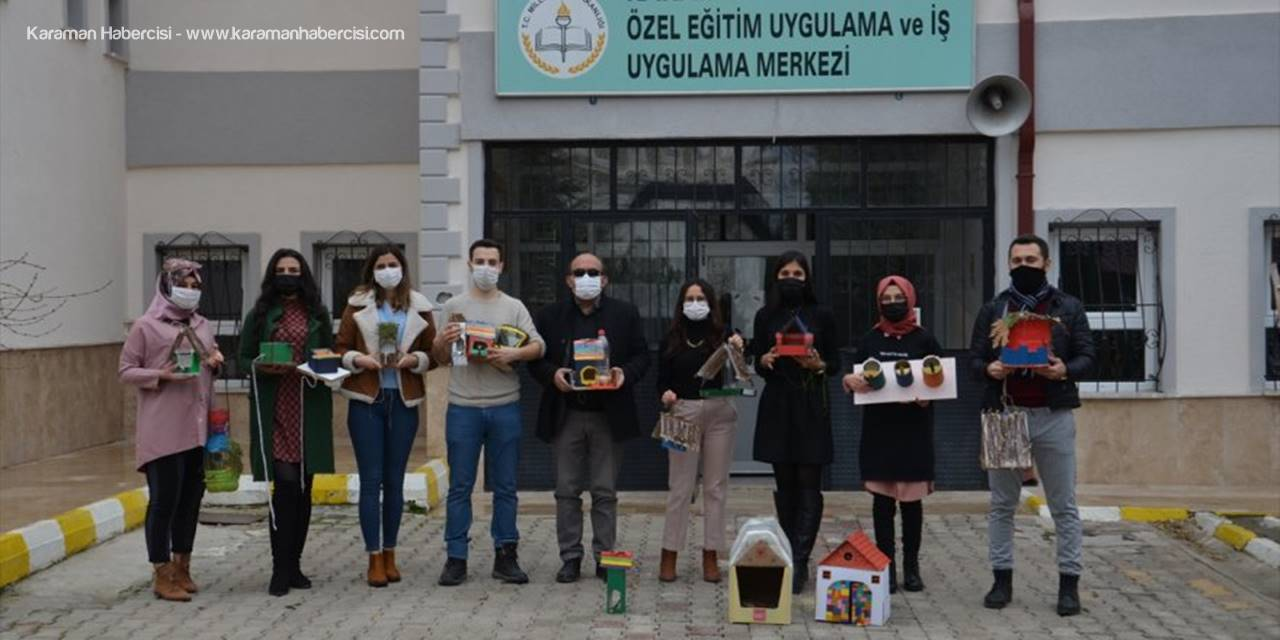 Hayvan Dostu Öğretmenler, Geri Dönüşüm Malzemeleriyle Kuşları Yuva Sahibi Yaptı
