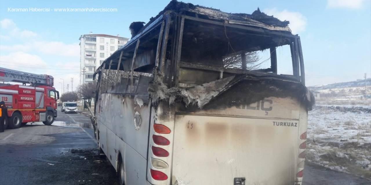 Kayseri'de İşçi Servisinde Alevler Yükseldi