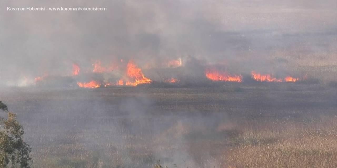 Antalya'nın Kaş İlçesinde Sazlık Yangını Büyümeden Söndü