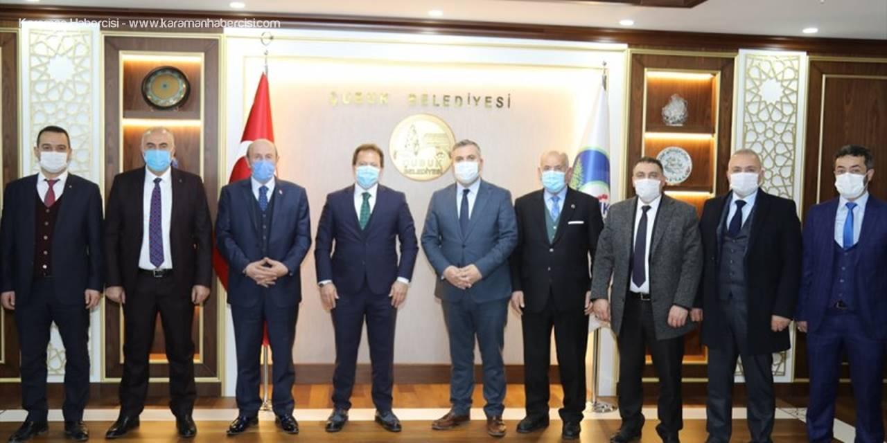 ANKESOB Başkanı Yiğiner'den Başkan Demirbaş'a Ziyaret