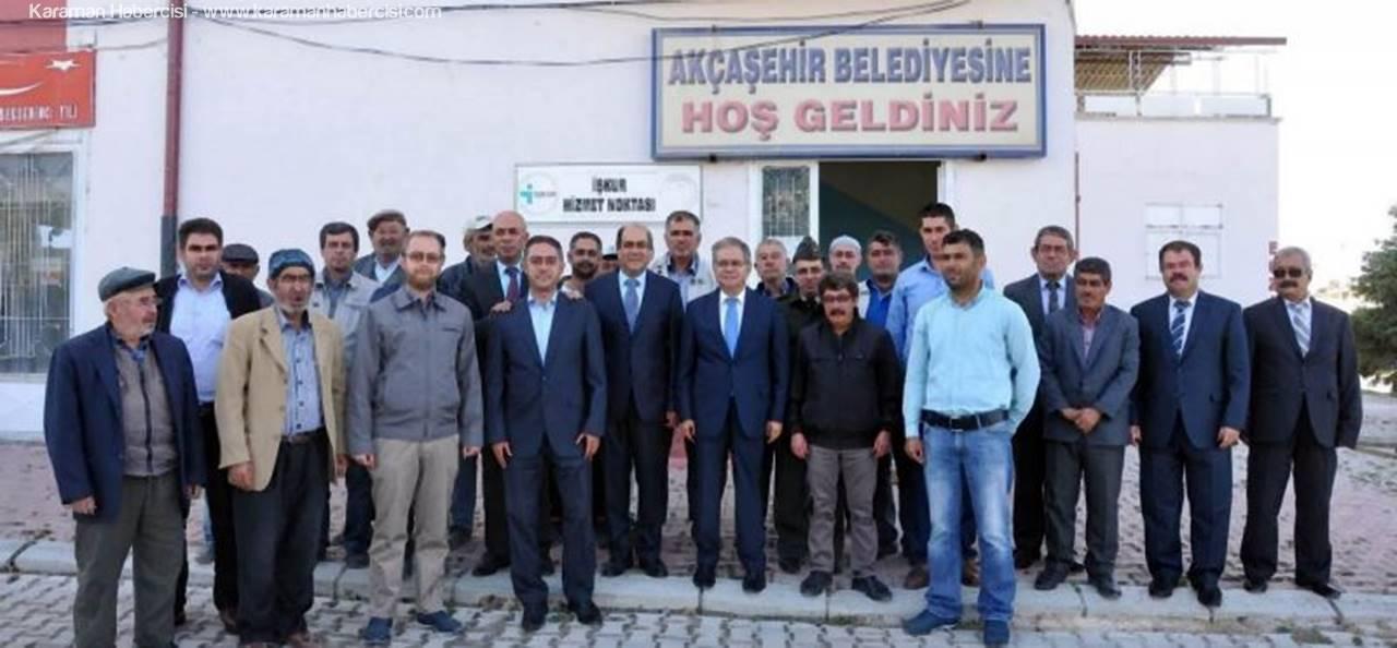 Karaman Valisi Süleyman Tapsız Akçaşehir'i Ziyaret Etti