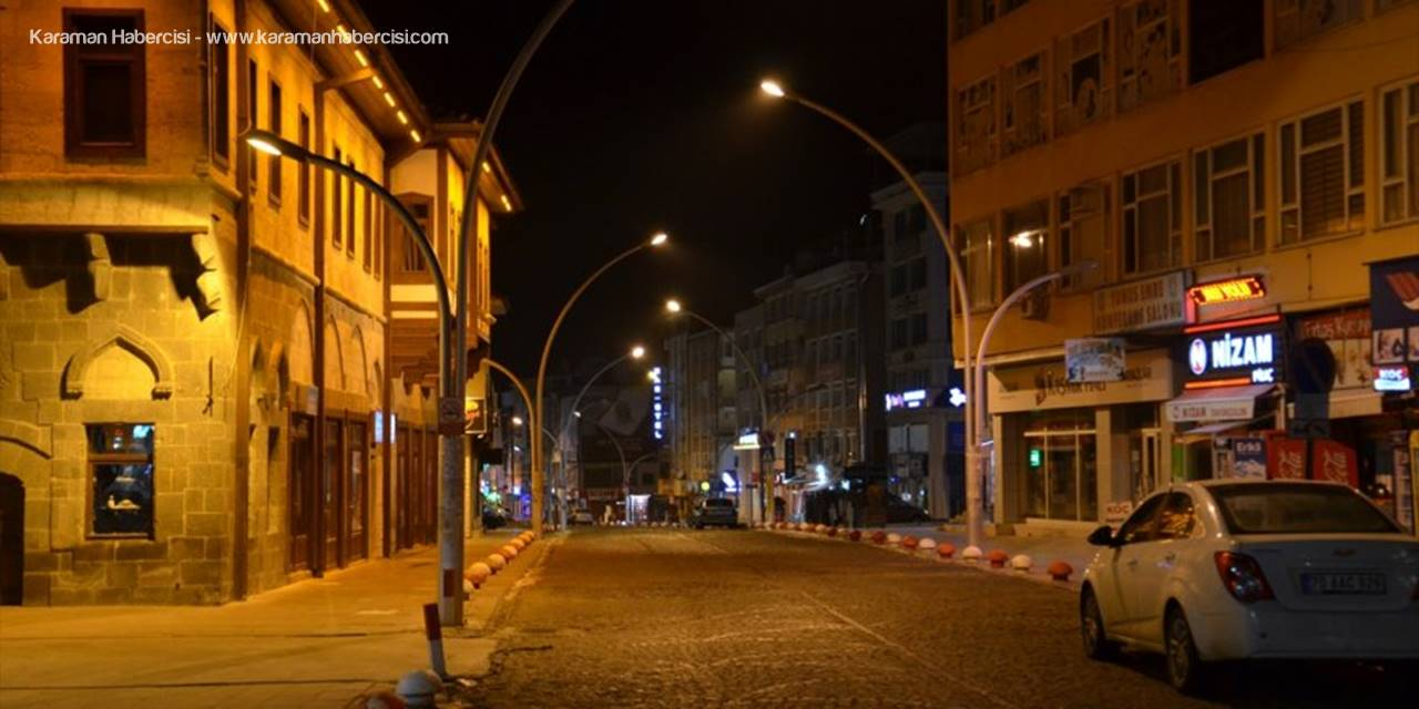 Karaman, Konya ve Aksaray'da Soğuk ve Korona Sessizliği