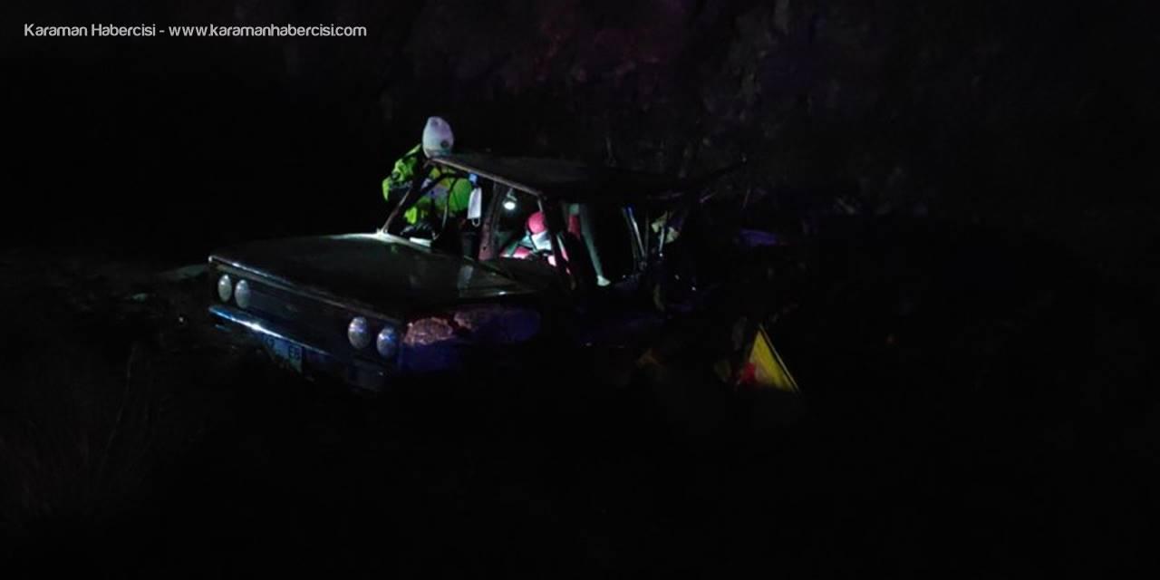 Konya'da Tırın Arkadan Çarptığı Otomobildeki 2 Kişi Yaralandı