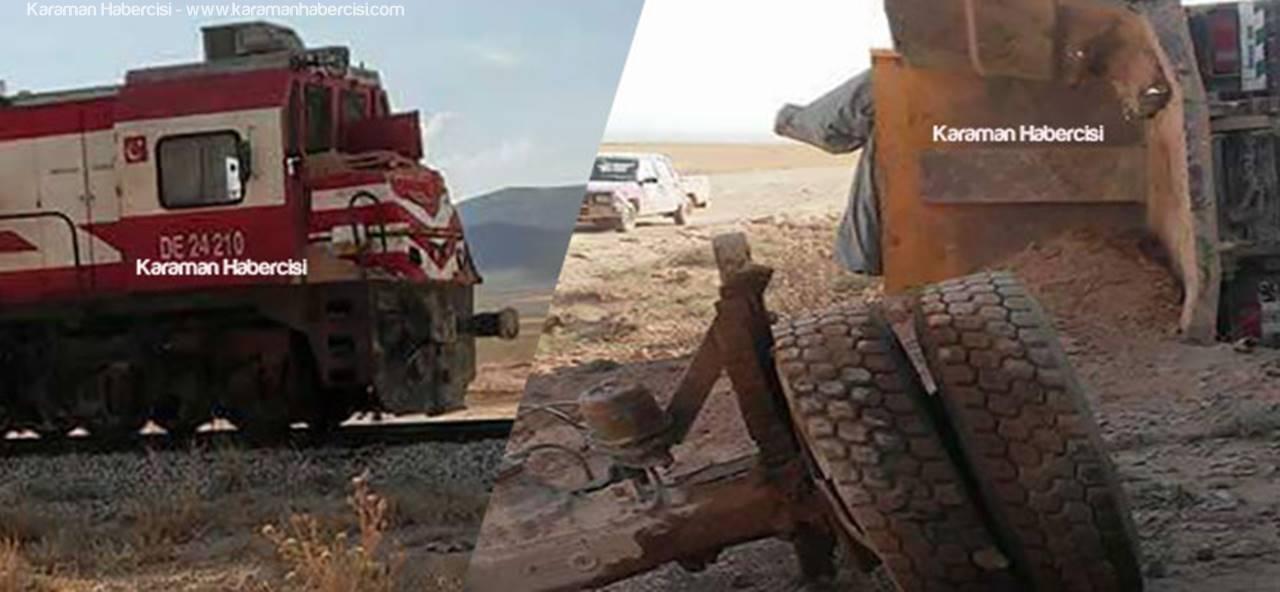 Karaman - Ayrancı Demir Yolunda Faciadan Dönüldü
