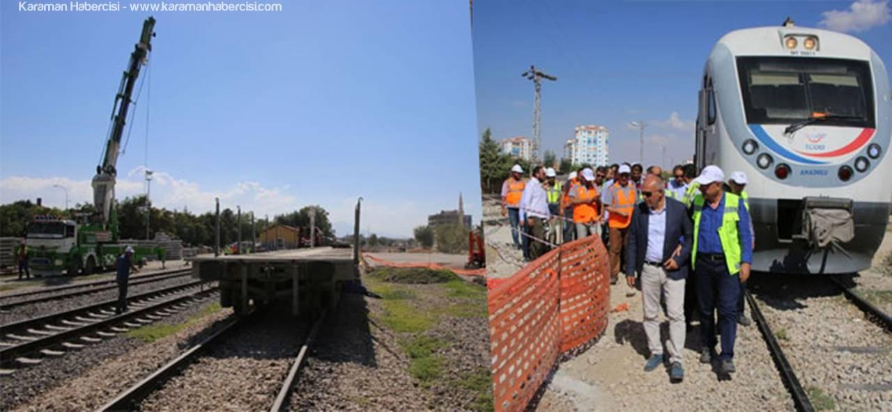 Konya-Karaman Hızlı Tren Hattında Çalışmalar Devam Ediyor
