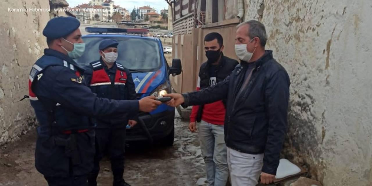 Karaman'da Kaybolan Cüzdanı Jandarma Buldu