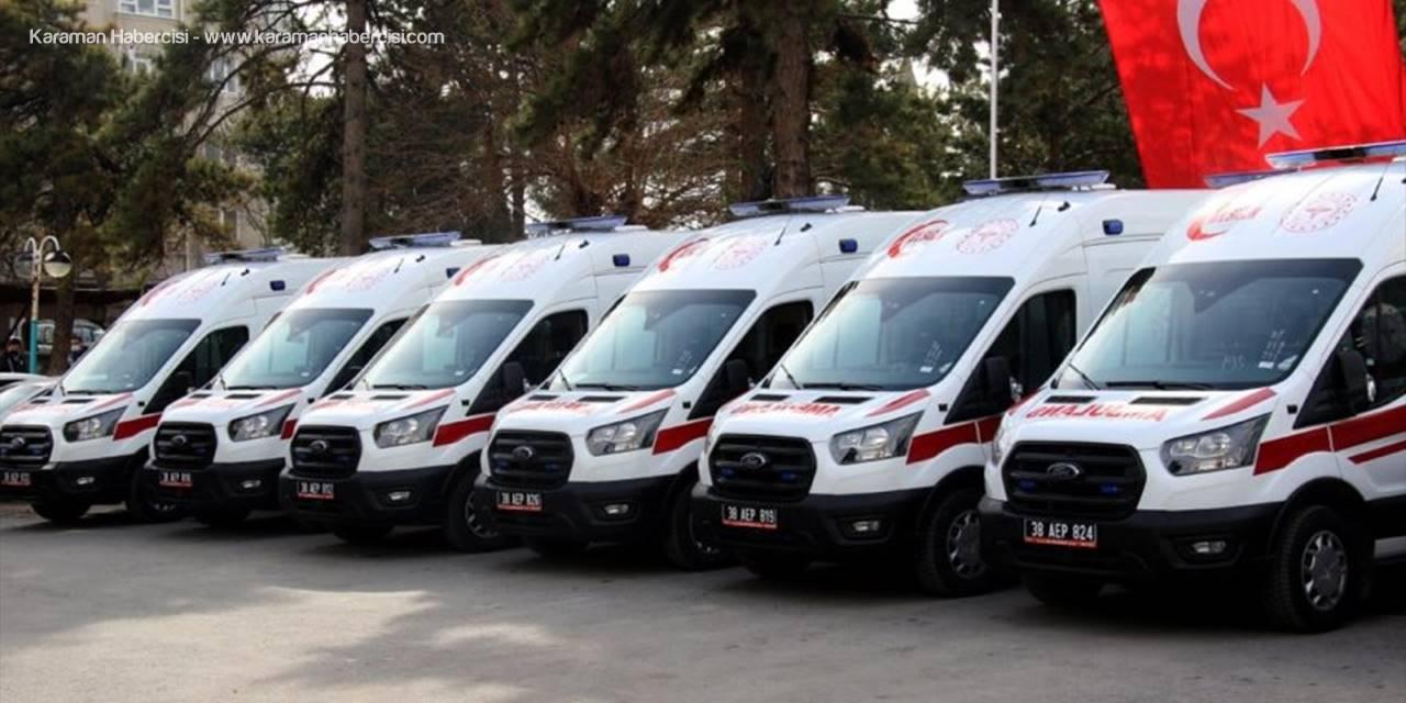 Kayseri Ambulans Filosuna 10 Araç Daha Katıldı