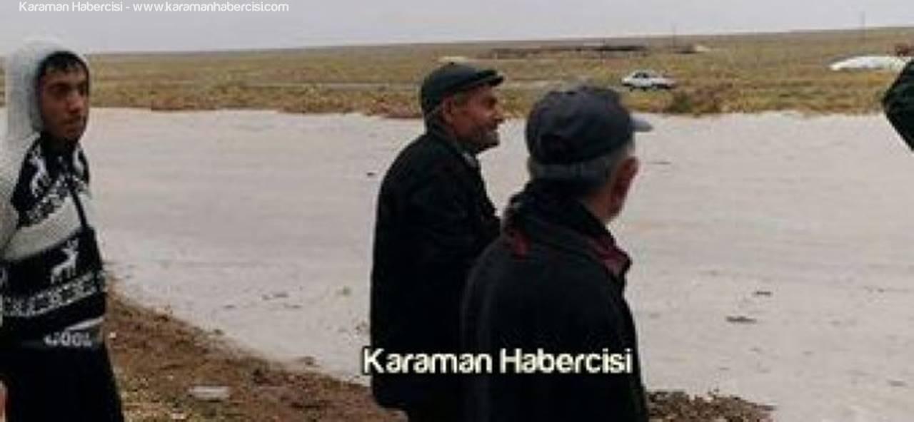 Karaman'da Yağan Yağmur Çiftçiyi Vurdu