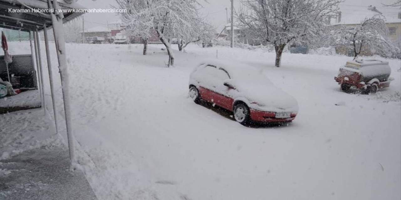 Hüyük'te Kar Nedeniyle Sürücüler Zor Anlar Yaşadı