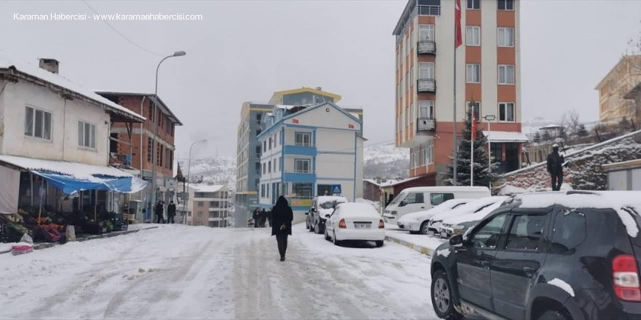 Sarıveliler'de Kar Yağışı
