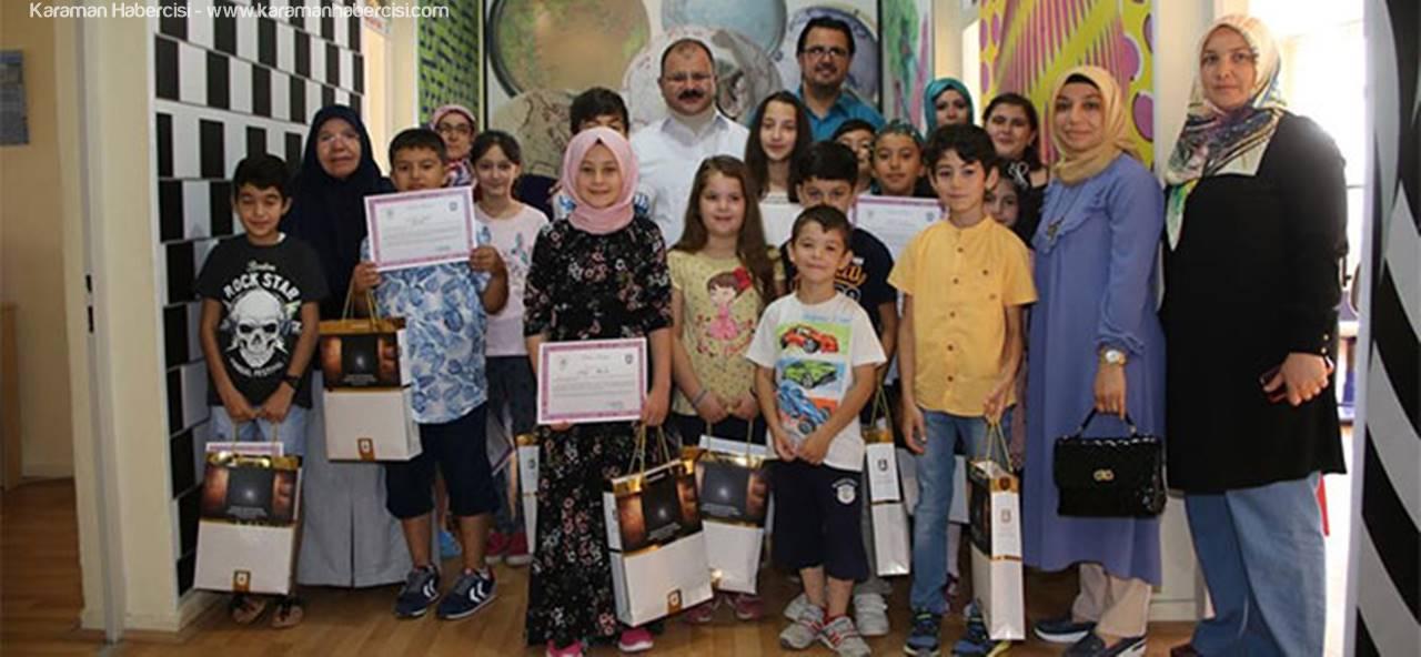 Karaman'da Kursiyer Öğrenciler, Sertifikalarını Aldı