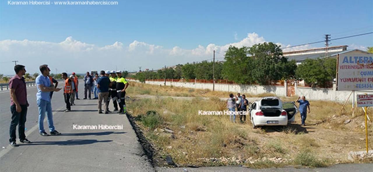 Karaman'dan Ankara'ya Giden Ekip Otosu Trafik Kazası Yaptı