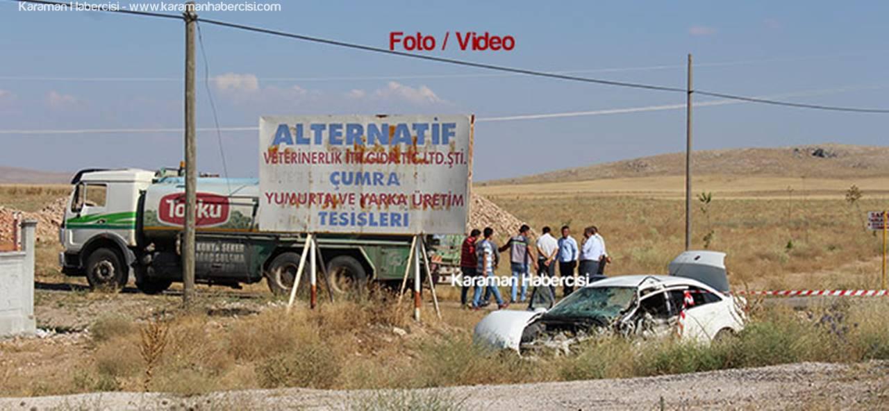 Karaman'dan Ankara'ya Fetö Sanığı Götüren Polis Aracı Kaza Yaptı