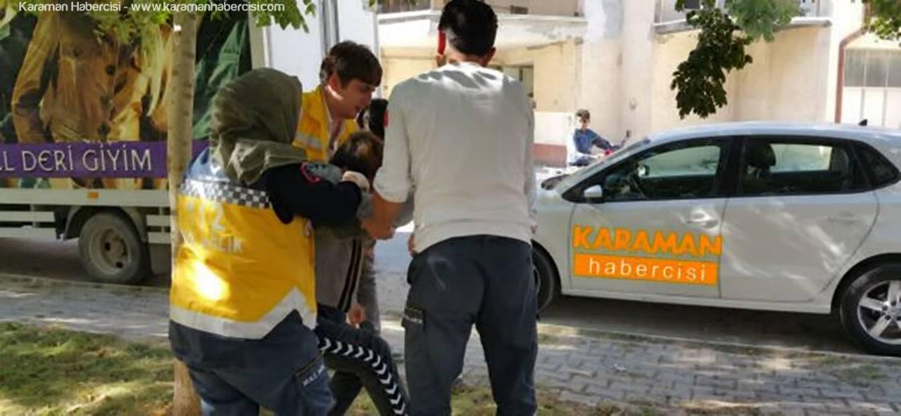 Karaman'da Parkta Baygınlık Geçiren Genç Hastaneye Kaldırıldı