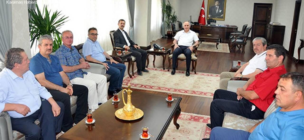 Karaman Valisi Fahri Meral'e HOKAF'tan Ziyaret