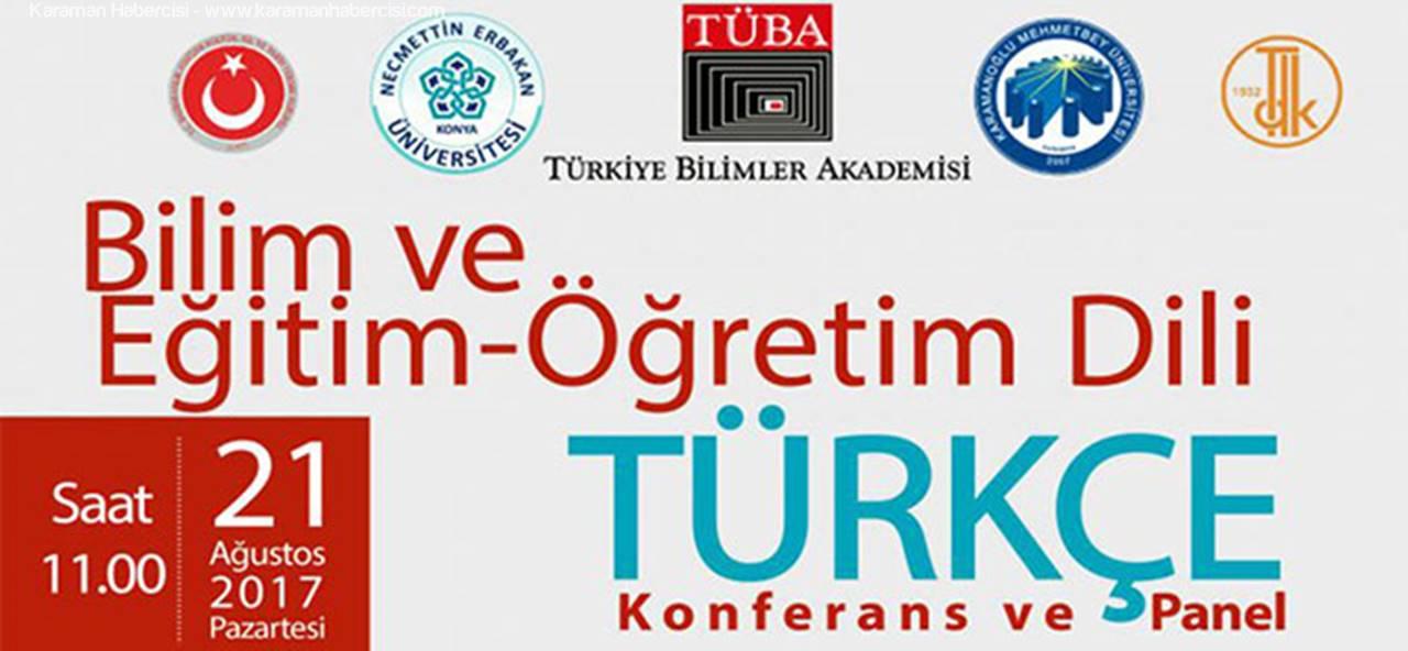 KMÜ'de 'Bilim ve Eğitim-Öğretim Dili Türkçe' Konferansı
